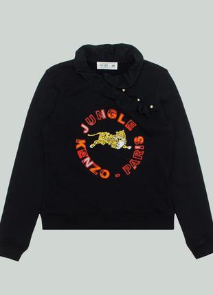 Свитшот kenzo x hm jungle ruffle sweatshirt