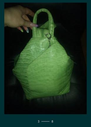 Сумка рюкзак, кожаный рюкзак