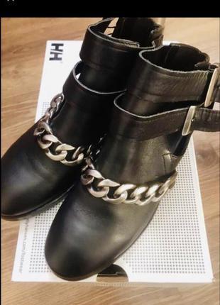 Ботинки zara оригинал натуральная кожа