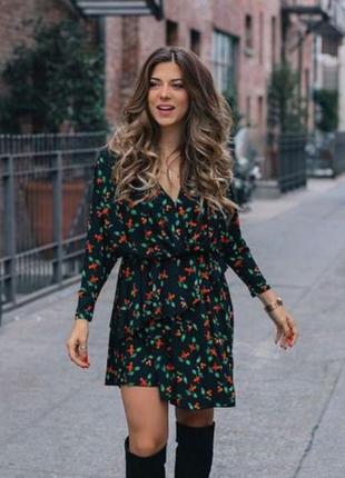 Неймовірна сукня з вишеньками / черешнями, сукня  (платье с черешнями, вишнями) h&m