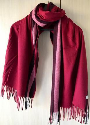Красный кашемировый шарф / pashmina