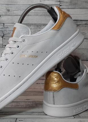 Кожаные кроссовки adidas stan smith