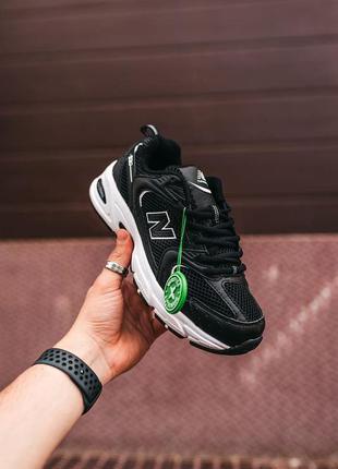 New balаnce 530 black\white🍏 стильные женские кроссовки нью баланс