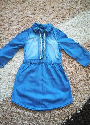 Джинсовые платье-рубашка