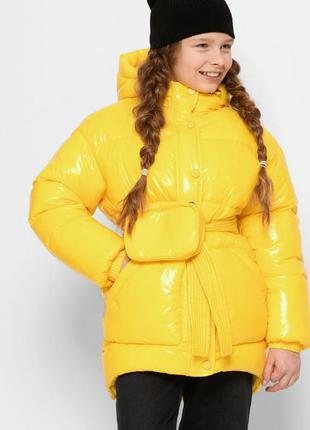 Детская зимняя куртка для девочки 8324 тм x-woyz размеры 30 - 44