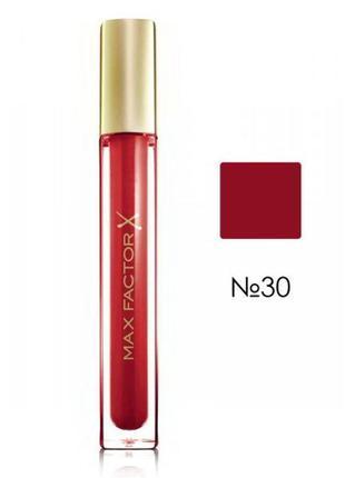 Блеск для губ max factor colour elixir gloss, 30 тон captivating ruby