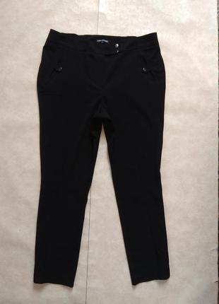 Классические черные штаны брюки со стрелками и высокой талией anya madsen, 18 pазмер.