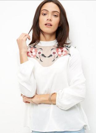 Блуза с вышивкой anita&green размер 10-12/м-l/38-40