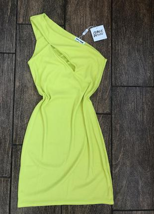 Новое сочное летнее платье с бирками лайм public desire