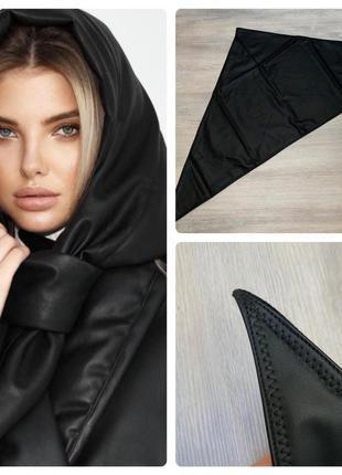 Стильный платок из кожзам zara