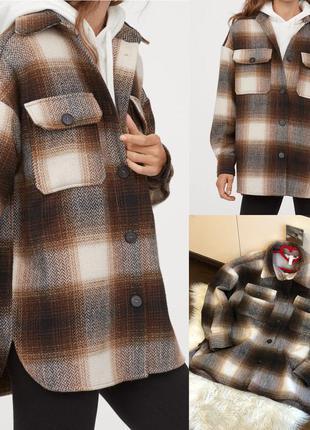Шерстяная рубашка пиджак пальто