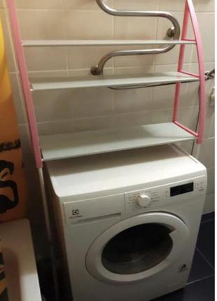 Стойка органайзер над стиральной машиной – напольные полки для ванной комнаты wm-63