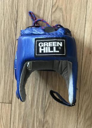 Шлем green hill боксёрский, кожаный