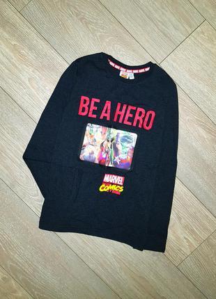 Реглан с супергероями marvel на 10-11 лет