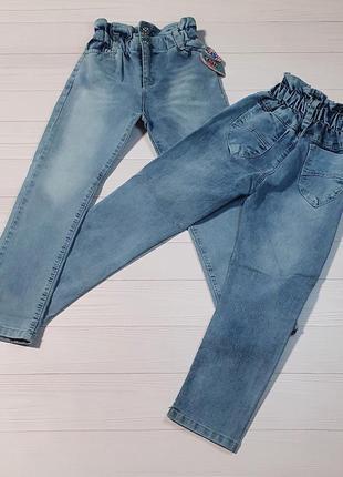 Модные стильные джинсы tati голубые на девочек 9-10 лет. турция.