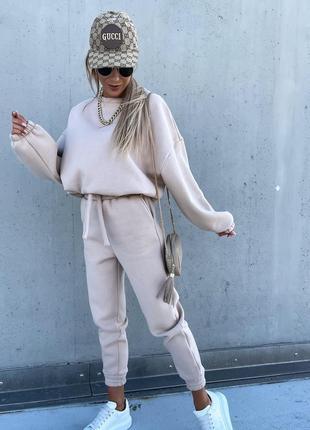 Теплый зимний костюм на флисе