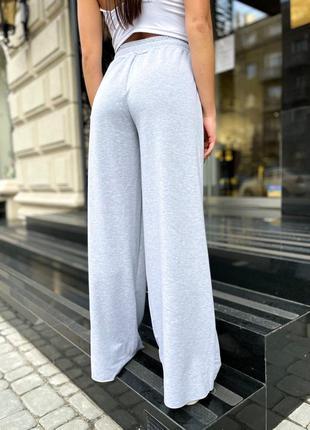 Распродажа ✅спортивные брюки клешь палаццо 🦋 трубы, необработанными краями