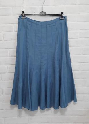 Красивая стильная юбка лён