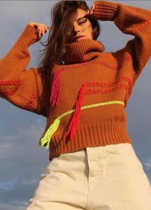 S,m р стильный свитер оверсайз benetton