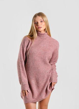 Oversize сукня пудрового кольору