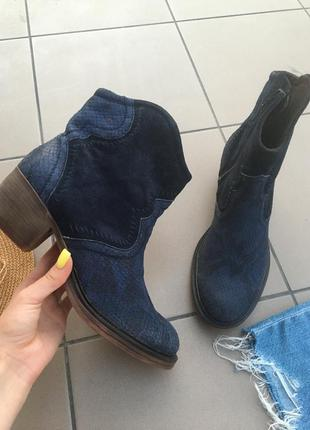 Ботинки сапоги кожаные ботильоны