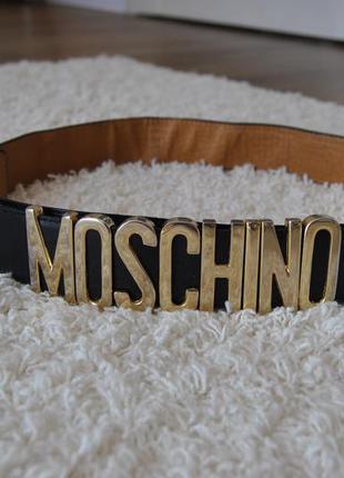Ремень лого moschino винтаж / ремінь