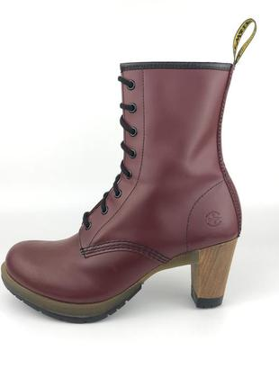 Туфли на каблуке dr. martens darcie originals, оригинал туфлі сапоги