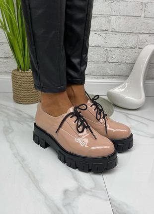 Туфли натуральная лакированная кожа