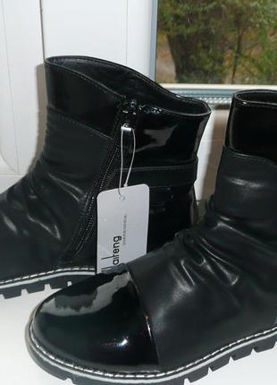 Деми ботинки 34,35р