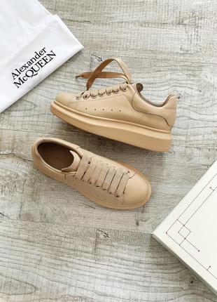 Женские кроссовки alexander mcqueen🔥 кожа демисезонные