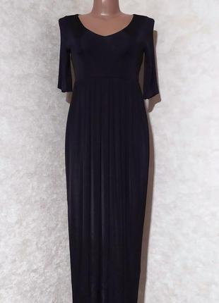Длинное чёрное платье other stories, xs-s