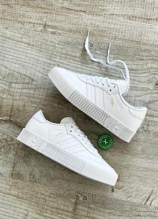 Женские кроссовки adidas samba❤️ кожа демисезонные