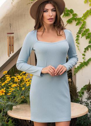 Платье - трикотаж мустанг резинка (2 цвета)