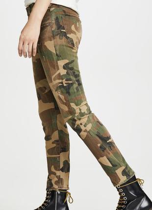 Камуфляжные джинсы скинни