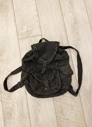 Серый джинсовый портфель calliope
