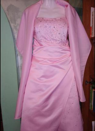 """🌺 🌿 🍃 вечернее платье с шалью р.46-48 """"scarlett exclusive """"🌺 🌿 🍃"""