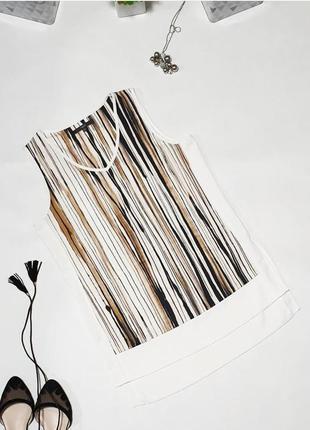 🖤удлиненная майка с v-образным вырезом и  разрезиками по бокам. оригинальный крой со вставками из белой текстурной ткани по бокам и по низу