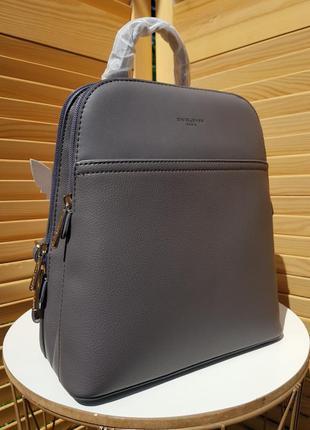 Новинка деловой серый женский рюкзак david jones #6221-2
