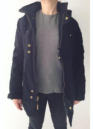 Куртка зимняя richlu, зимова куртка, тепла куртка, парка чорная. куртка женская, утиный пуховик.