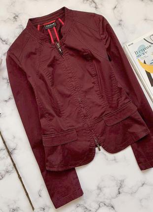 Стильная курточка пиджак в сливовом цвете taifun