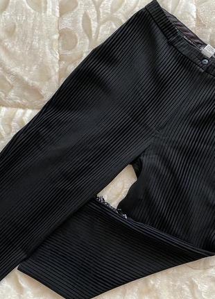 Штаны брюки бермуды в полоску черные