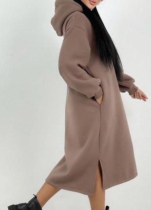 Тёплое платье-худи 🤩
