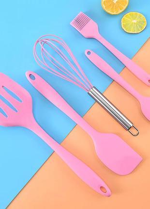 Набор из 5 предметов для кухни usa easy kitchen silicone set, силиконовые лопатки