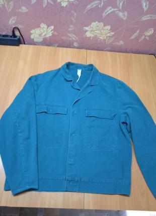 Зеленая мужская куртка роба 52 р