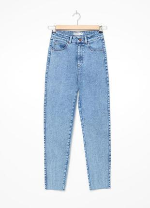 Джинси мом оверсайз джинсы высокая посадка штаны