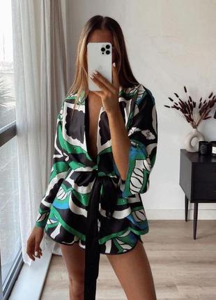 🌿уличная пижама, новый костюм, яркий в бельевом стиле, тренч и шорты🌿