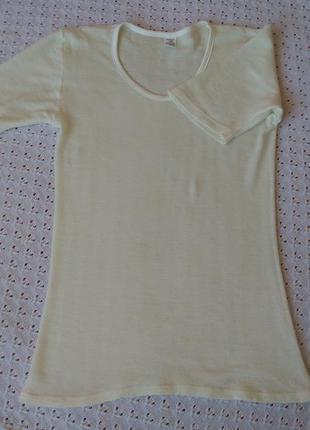 Термо футболка з мериносової вовни термобілизна термобелье шерсть мериноса поддева