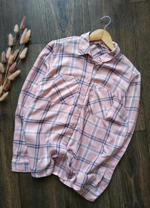 Натуральная рубашка свободного кроя, стиль оверсайз