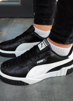 Женские кроссовки puma cali черные