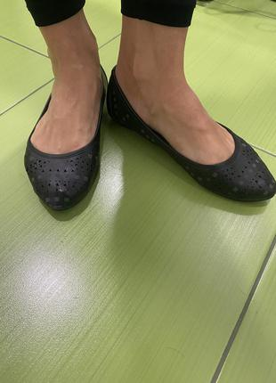 Черные балетки 38 размер